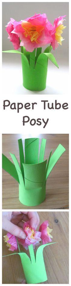 paper tube posy