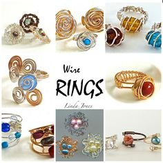 Wire rings with beads - WireWorkers Guild