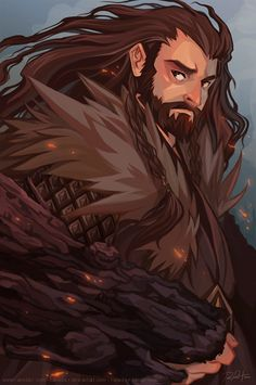 Oakenshield by ramida-r.deviantart.com  think this might be a good benchmark for webcomic design style
