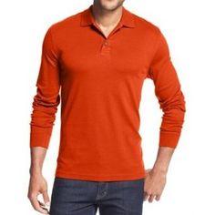 Polo Manche Longue -Orange Mode Homme, Polo Manche Longue, Manches Longues,  Polo 0d3e0b555df