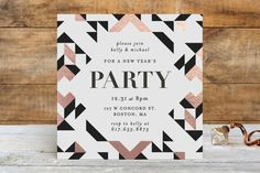 Geometric Holiday Party by Kelly Schmidt at minted.com