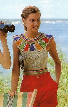 Retro Crochet Egyptian Halter Top PDF Pattern by MomentsInTwine