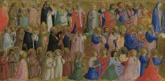 The Virgin Mary with the Apostles and Other Saints: Inner Left Predella Panel Fra Angelico (c.1400–1455) The National Gallery, London