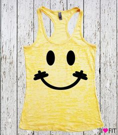 Because I'm Happy // Women's Workout Tank Top // by IHeartFit, $22.00
