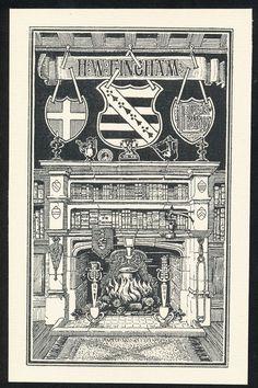ART Nouveau Bookplate Exlibris BY English Artist E Bengough Ricketts C 1897 | eBay