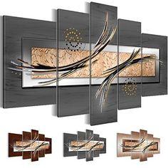 Bilder 200x100 cm - XXL Format - Fertig Aufgespannt - TOP - Vlies Leinwand - 5 Teilig - Wand Bild - Kunstdruck - Wandbild - Abstrakt a-A-0051-b-m 200x100 cm B&D XXL
