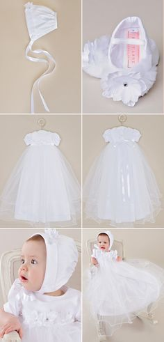 Delicate and full layers, the Shanna is a wonderful gown with sparkling flower details. Don't forget the matching, sparkled shoes! Christening Gowns For Girls, Girls Baptism Dress, Blessing Dress, Sparkle Shoes, Cotton Slip, Satin Flowers, Fall Skirts, White Fabrics, Beautiful Gowns