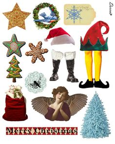 Holiday Goodies    Free to use in your artwork. Please do not sell in anyway!