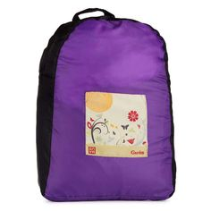 78ebd01cce Onya Black Purple Garden Backpack are made from rPet material – recycled  plastic drink bottles. They are super strong and incredibly compact
