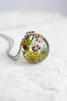 Real Flowers Necklace  One-of-a-kind gift idea for от UralNature
