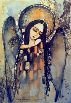 One Clear Memory Analyzed by An Angel Practitioner - Engel - Angel Images, Angel Pictures, Angel Artwork, Angel Paintings, Ange Demon, Religious Art, Painting Inspiration, Illustration, Folk Art