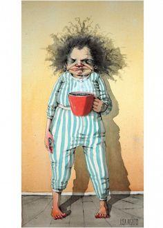 - Mornings Sucks - - Poem by Sunshine Smile I Love Coffee, Coffee Art, My Coffee, Coffee Humor, Coffee Quotes, Whimsical Art, Quirky Art, Funny Art, Old Women