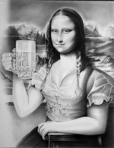 Mona Lisa Smile, La Madone, Mona Lisa Parody, Beautiful Fantasy Art, Tour Eiffel, Illustrations And Posters, Caricature, Surreal Art, Cool Pictures