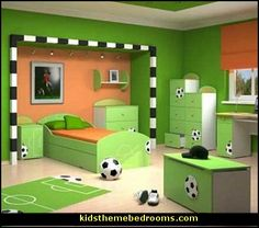 Decorating theme bedrooms - Soccer
