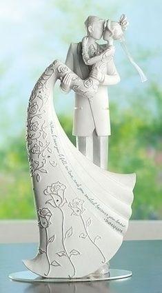 The Kiss Wedding Cake Topper