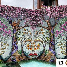 Pintura divina! #Repost @cola5437 with @repostapp #florestaencantada  #enchantedforest  #magicaljungle  #selvamagica 【No.114】#魔法森林#johannabasford#enchantedforestcoloringbook