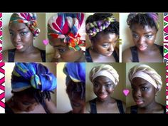 Headwraps - How to tie headwraps in a multitude of different ways YoutTube Video by WomanInTheJungle Natural Hair Tips, Natural Hair Styles, Natural Beauty, Bandanas, Yoga Hair, Beauty Expo, African Head Wraps, Black Hair Care, Head Wrap Scarf
