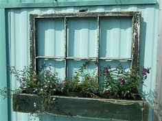 Old window with planter - I'm pretty sure I have all the materials to make this.