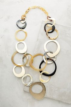 Horn Swirl Necklace #anthropologie
