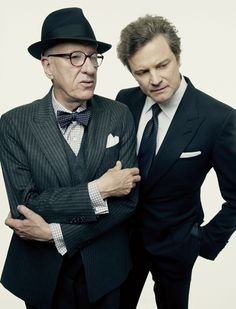 Geoffrey Rush and Colin Firth by Peter Hapak
