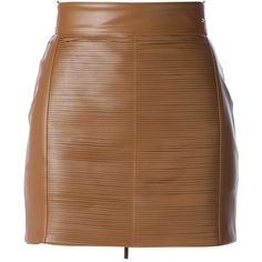 ELISABETTA FRANCHI leather mini skirt ($291) ❤ liked on Polyvore featuring skirts, mini skirts, bottoms, saias, faldas, straight skirt, leather miniskirt, short leather skirt, brown skirt and mini skirt