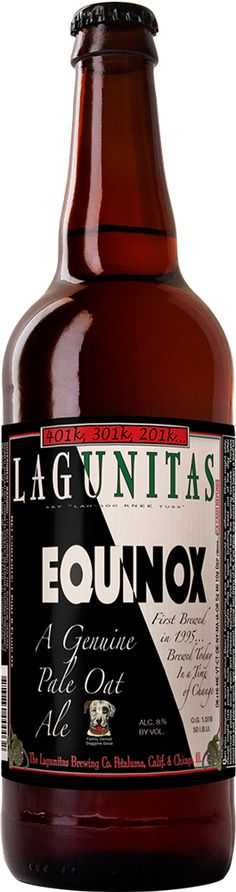 Equinox Pale Oat Ale   Lagunitas Brewing Company