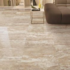 FINAL PRODUCT - 24 in. x 24 in. Polished Porcelain Floor Tile.  http://www.homedepot.com/p/Corso-Italia-Impero-Champagne-24-in-x-24-in-Polished-Porcelain-Floor-and-Wall-Tile-11-63-sq-ft-case-AW6P/206145373
