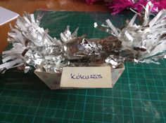 Coconut-flavoured Christmas tree candy, silver wrapping