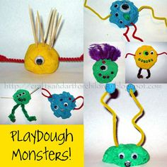 Fun Monster Crafts, Activities, Books, Movie, & Snack! - Artsy Momma