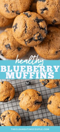 The Best Healthy Blueberry Muffins Recipe that is so easy to make! Learn how to make blueberry muffins with only 11 ingredients! Perfect for kids or adults, this recipe is made with no sugar besides a little bit of honey. You can use whole wheat flour or oatmeal flour.