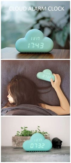Cloud Shaped Alarm Clock .It has 10% off now ,use the coupon code :Happyday11 #coupon #gadgets #cool