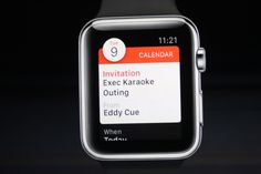 Receive your invitations on the calendar on Apple Watch