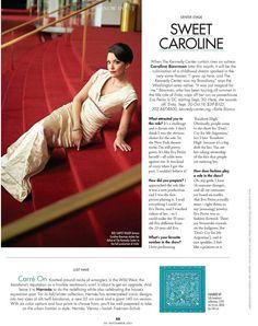 Publication: DC Modern Luxury; Subject: Caroline Bowman; Photo: Greg Powers; Makeup & Hairstyling: Carol Stover