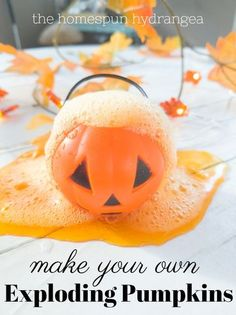 Fall is the perfect time for some spooky science experiments for kids! These easy to make pumpkin volcanoes use all dollar store supplies and are super fun to enjoy. These volcano pumpkins are one of my favorite Halloween crafts for kids and are even fun to try at Halloween parties!
