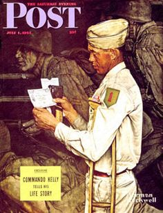 """War Bond"" (Norman Rockwell), July The Saturday Evening Post. Norman Rockwell Prints, Norman Rockwell Paintings, Saturday Evening Post, Social Art, Artists For Kids, Old Signs, Artist Gallery, Magazine Art, Magazine Covers"
