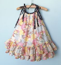 Best 12 last summer's pillowcase dress… wish it would fit this year, maybe a top – SkillOfKing. Girls Frock Design, Kids Frocks Design, Baby Frocks Designs, Baby Dress Design, Frocks For Girls, Dresses Kids Girl, Kids Outfits, Kids Dress Wear, Kids Gown