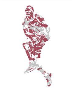 Chris Paul Houston Rockets Pixel Art 35 Art Print by Joe Hamilton d22e9c56d