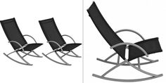 Black Metal Rocking Chairs Garden Outdoor Lounger Seats Deck Beach Camping Set for sale online Outdoor Loungers, Outdoor Chairs, Outdoor Furniture, Outdoor Decor, Metal Rocking Chair, Rocking Chairs, Camping Set, Beach Camping, Black Metal