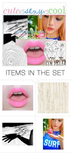 """""""Cute vs Sexy vs Cool Girl Groups"""" by pearliemoon ❤ liked on Polyvore featuring art"""