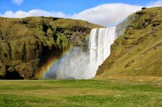In Island: Skógafoss