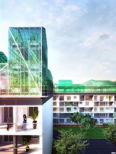 Rooftop Farming- 2012 - Romainville | SOA Architects, FranceSOA Architects Paris > Projects > Rooftop farming