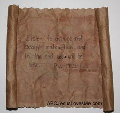 """A grocery sack can make """"an ancient scroll""""Josiah/Jehoiakim - have a bag of ashes for Jehoiakim's scroll"""