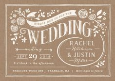 Brown country vintage style, gray scalloped wedding Invitations, prices vary, gonecountrychicwedding.com, #country #chic #wedding #invitations # #vintage #brown #barn #farm #wedding