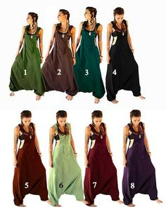 01ae3a83b3f Aladdin Harem Jumpsuit with coconut buttons Overalls Women