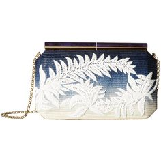 2dcab8e73e6e Oscar de la Renta Saya (Marine Blue Raffia) ($1,593) ❤ liked on Polyvore  featuring bags, handbags, clutches, blue clutches, white evening bag, ...