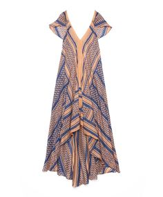 block-printed silk dress