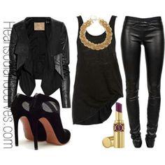 Black on Black leather