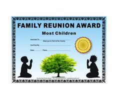 most children married award kids at prayer theme african american free family reunion certificate template - Free Family Reunion Certificates Templates