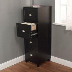 Bradley 4-Drawer Filing Cabinet, Multiple colors Home Office Cabinets, Home Office Furniture, Furniture Ideas, Repurposed Furniture, Painted Furniture, Konmari, Feng Shui, Drawer Filing Cabinet, Filing Cabinets