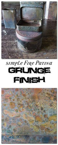 Create Gorgeous Fire Patina Easily and Quickly Fire Pit Patina Altered Tins, Altered Art, Aging Metal, Paint Effects, Painting Tips, Cow Painting, Painting Techniques, Metal Jewelry, Metal Art